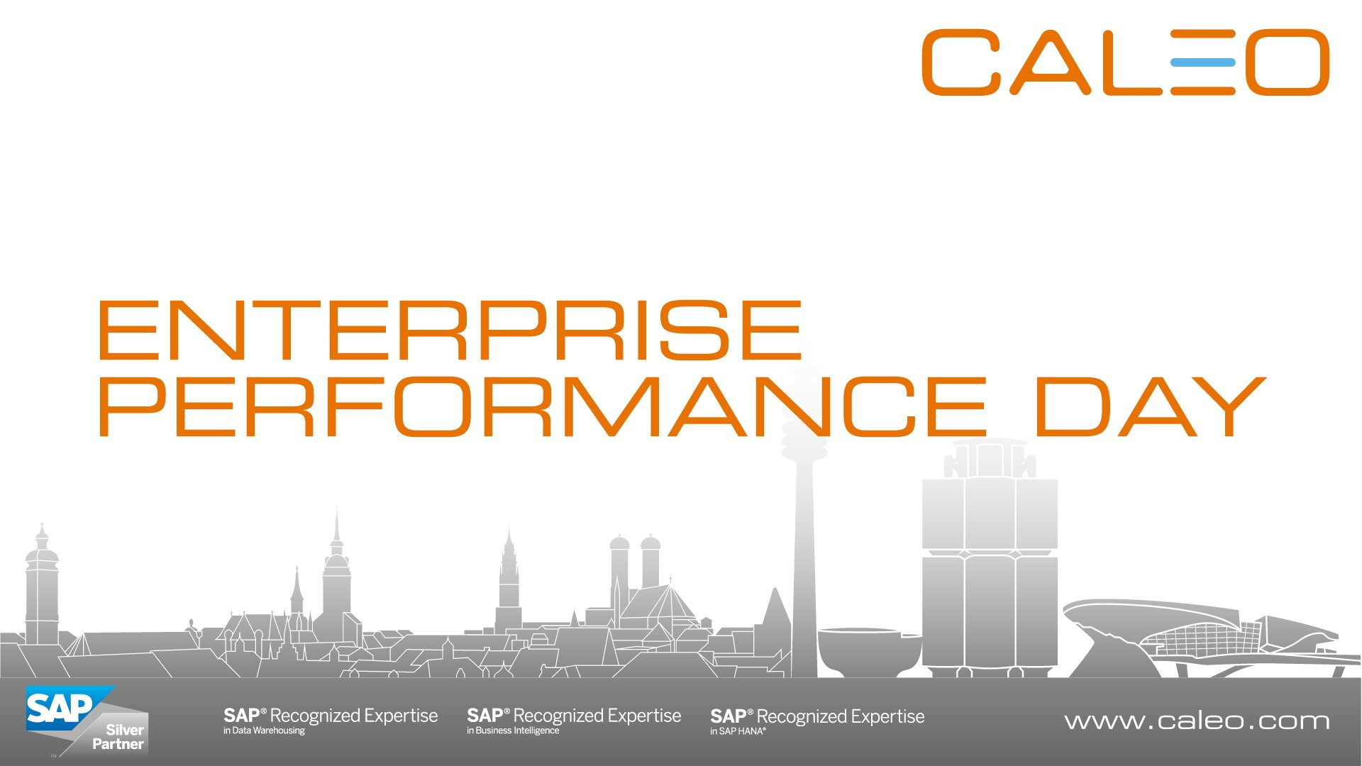 Enterprise Performance Day 2018 - Caleo
